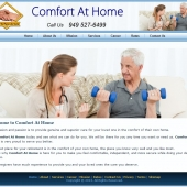 Comfort at Home Care Web Design Laguna Hills CA