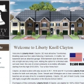 Liberty Knoll New Homes Clayton Delaware Web Design