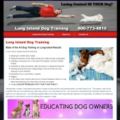 Long Island Dog Training New York Web Design