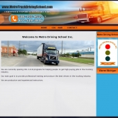Website Design for Truck Driving School