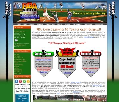 baseball website design