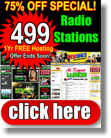 Radio Station Web Design $499