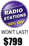 radio station web design special