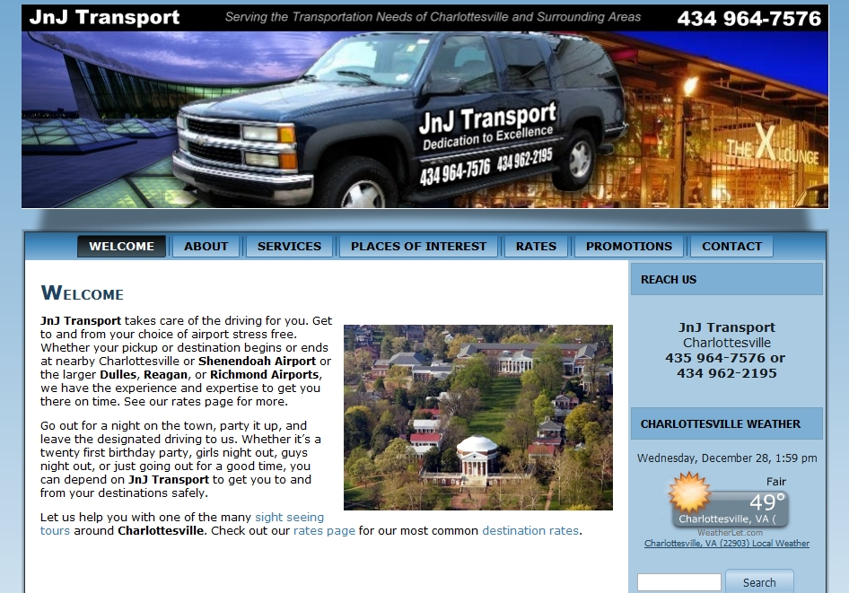 Transportation Services in Charlottesville