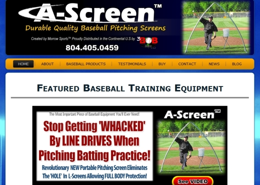 A-Screen Baseball Website Designs