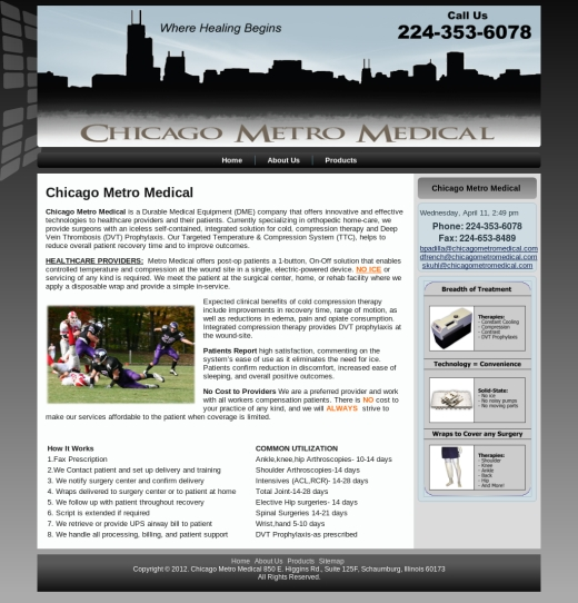 Chicago Metro Medical Web Site Design