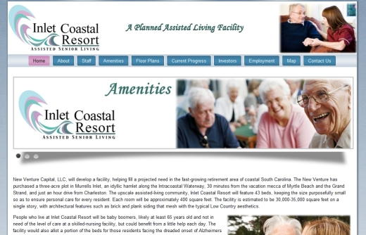 Inlet Coastal Resorts Assisted Living Facility Website Design