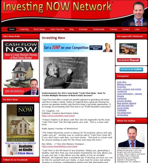 Investing Now Network Website Design Makeover