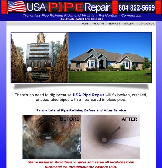 USA Pipe Repair Richmond VA Trenchless