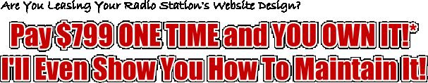 Radio Station Website Designers $799