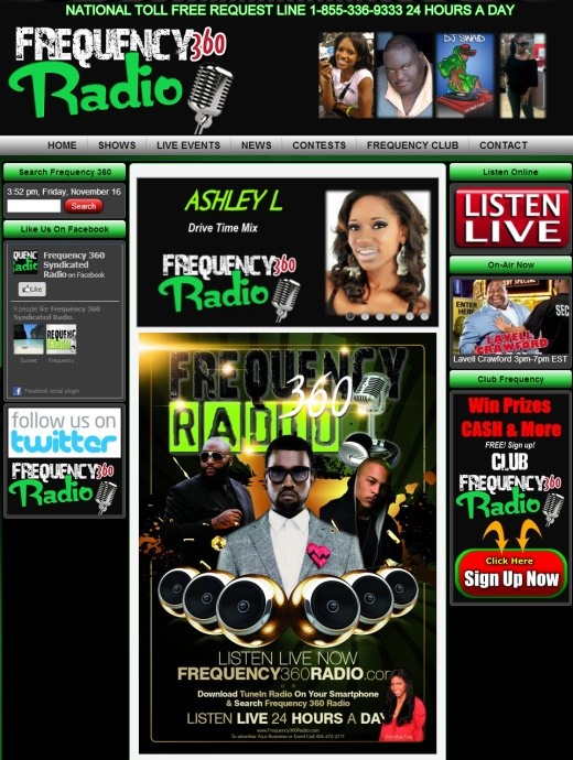 Radio Station Web Design Frequency LIVE Radio