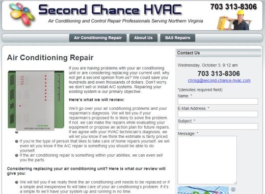 Second Chance HVAC Virginia