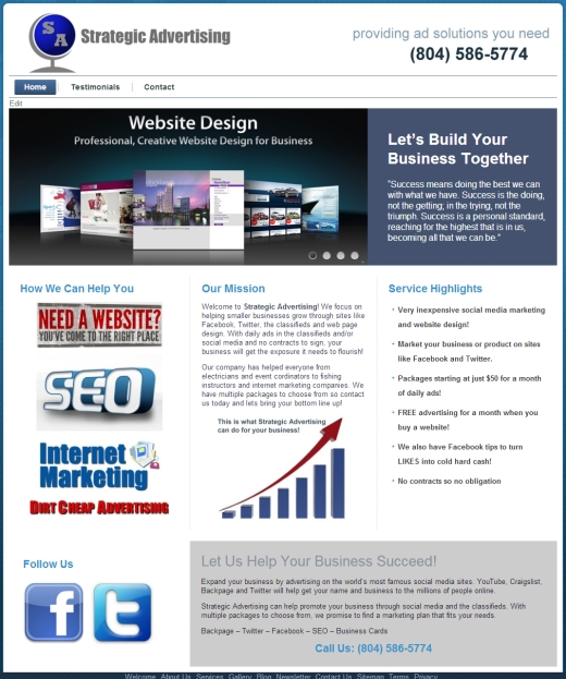 Classified Ads Marketing Web Design VA