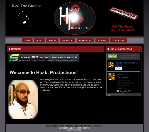 Woodsong Beats Music Site Web Design Virginia