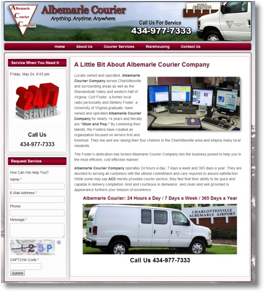 Albemarle Courier Service Charlottesville