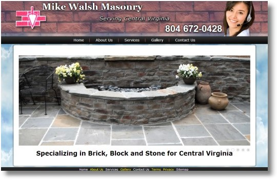 Mike Walsh Brick Masonry Richmond VA Web Design
