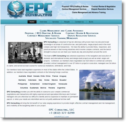 EPC Consulting Web Design