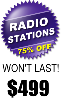 $499 Radio Station Web Design Special