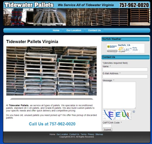 Web Design Tidewater Va Pallets