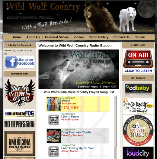 Country Radio Station Web Design