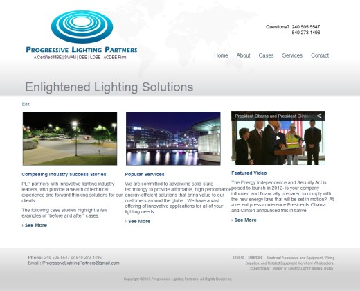 Nation Web Design for US Lighting Company
