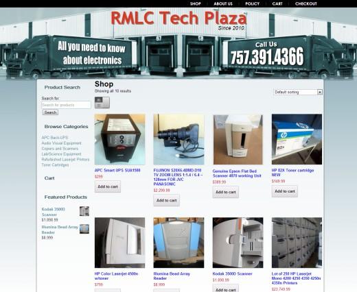 Online Computer Store Ecommerce Web Design VA