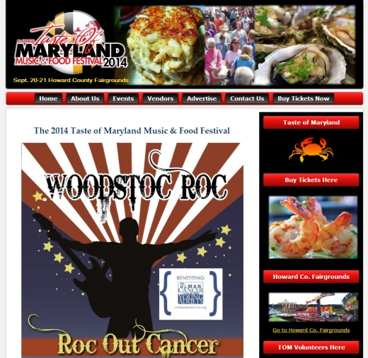 Maryland Food Festival Web Design