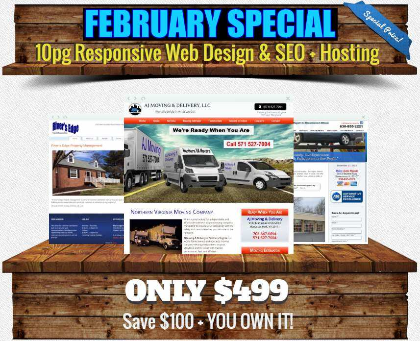 Web Design Under 500 Dollars Small Businesses