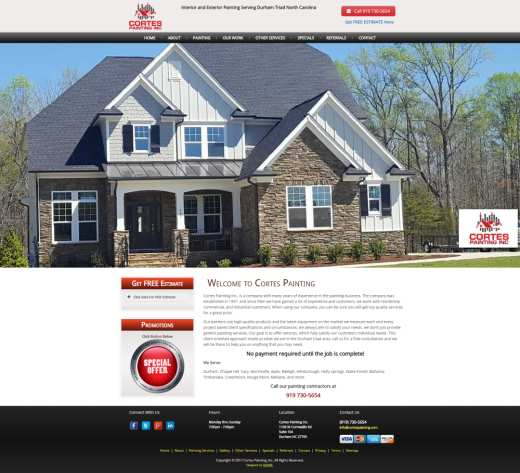 House Painting Contractor North Carolina Web Design