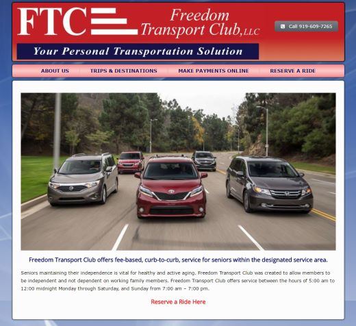 Transportation Company North Carolina Web Design