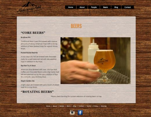 Colorado Beer Brewery Web Design