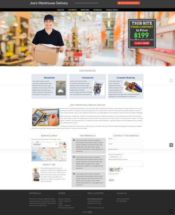 Warehouse Delivery Web Design under $200