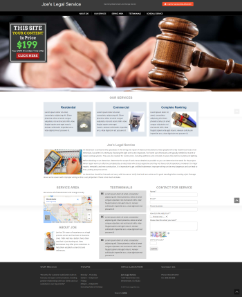 Legal Services Lawyer Attorney Web Design under $200