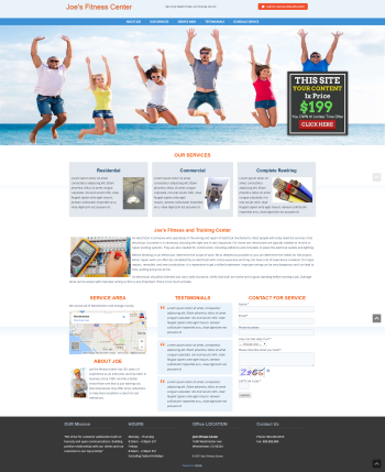 Health and Fitness Web Design under $200