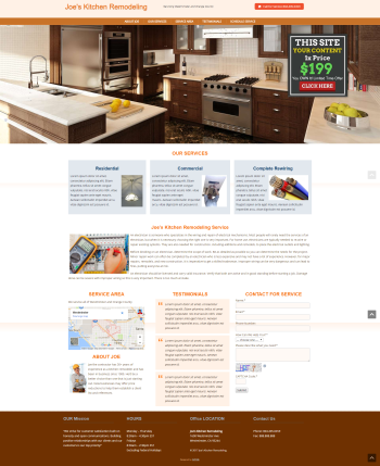 Home Improvement Web Design Under $200