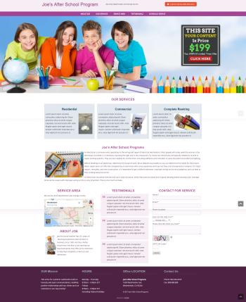 Daycare Web Design under $200