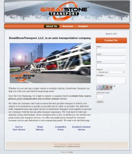Transportation Company Web Design