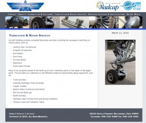 Aircraft Welding Web Design