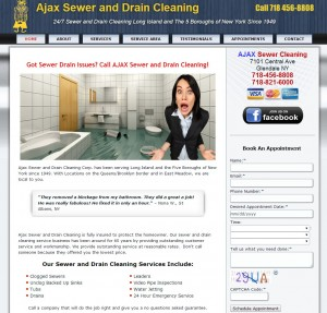 Sewer Cleaning Business Web Design