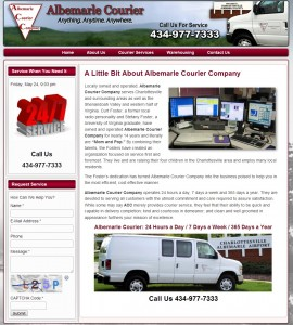 Courier Company Web Design