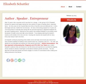 Book Author Web Design