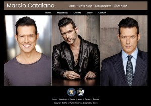 Actor Marcio Catalano Website Design