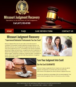 Missouri Judgment Recovery Web Design