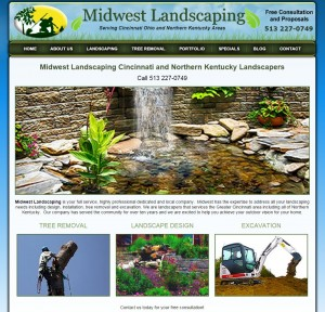Midwest Landscaping web Design