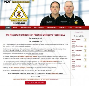 Self Defense Training Web Design