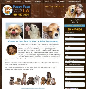 Mobile Dog Groomers Los Angeles Web Design
