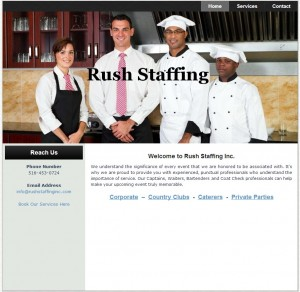 Restaurant Food Industry Staffing Agency Web Design