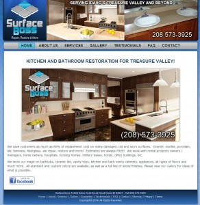 Surface Boss Kitchen Remodeling Web Design