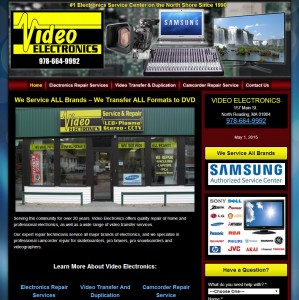 Video Electronics Repair Web Design