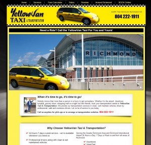 Taxi Cab Web Design